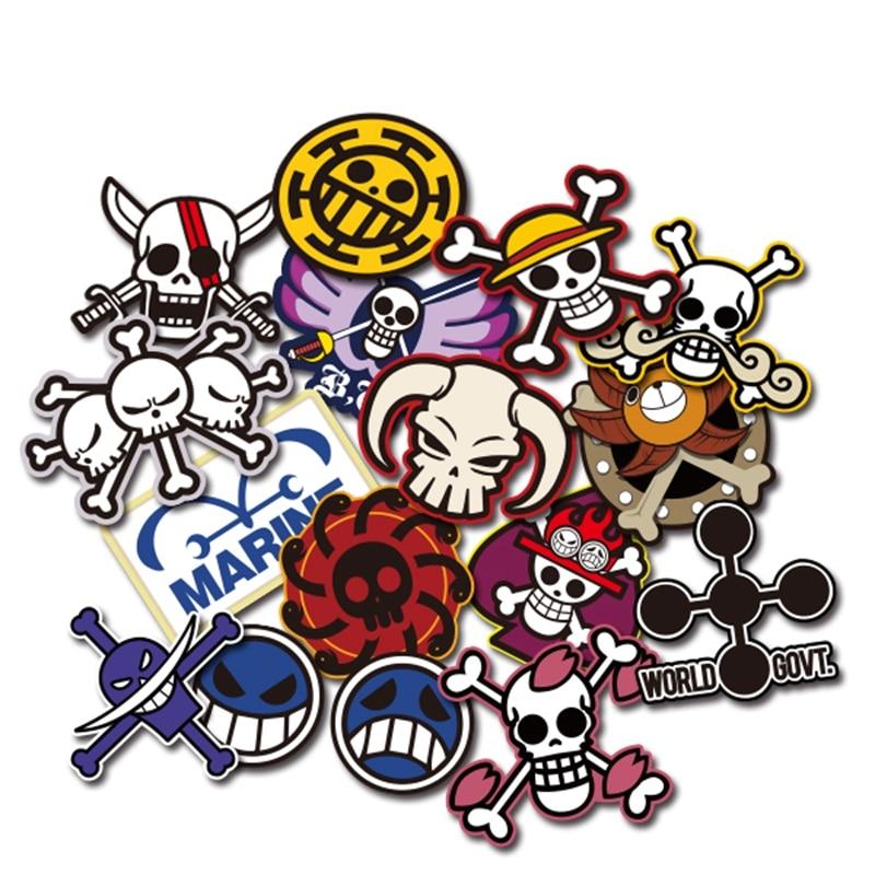 Noizzy Pirates Crew ONE PIECE Anime Flag Logo Car Stickers Cartoon Auto Decal Window Door Motorcycle Vinyl Tuning Car Styling