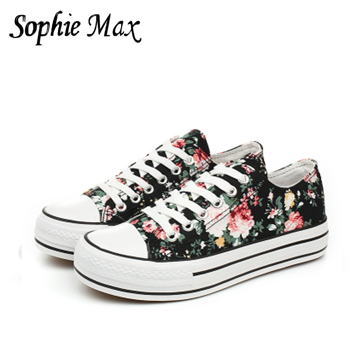 2016 autumn sophie max new arrival classic female canvas rubber shoes students shoes 870020 image