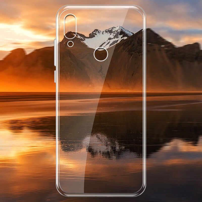 Para Huawei Honor 20 funda delgada silicona suave transparente TPU carcasa trasera para Y9 Y6 prime P smart Plus 2019 funda de teléfono en Honor20