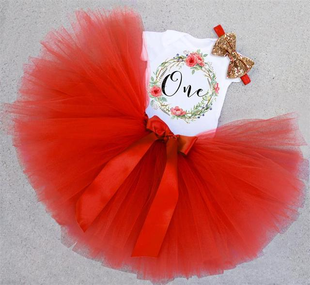 7bc1506eb New Fashion Baby Tutu Dress New Year Baby First Christmas Clothing Dress  Newborn Baby Girls 1 Year Birthday Outfits Kids Clothes