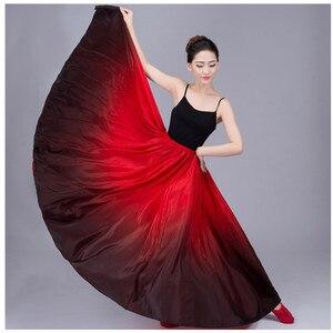 Image 3 - 720 Buik Gypsy Rok Buikdans Ruches Flamenco Rok Nieuwe Buikdansen Grote Rokken Buikdans Rok Flamingo Kostuum B 6832