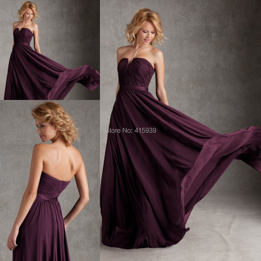Dark purple eggplant color chiffon sweetheart long cheap dark purple eggplant color chiffon sweetheart long cheap bridesmaid dress honor of maid wedding of african bridesmaids dresses in bridesmaid dresses from ombrellifo Image collections