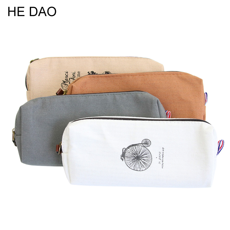 1 PC Retro Towers Linen Pencil Bag Students Paris Style Pencil Cases Stationery Material Escolar Office Supplies New Arrival