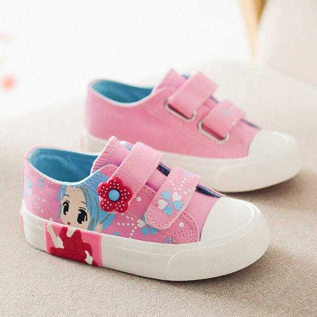 f969d396 Niñas zapatos de lona de los niños niños niñas zapatillas de deporte zapatos  2016 primavera otoño