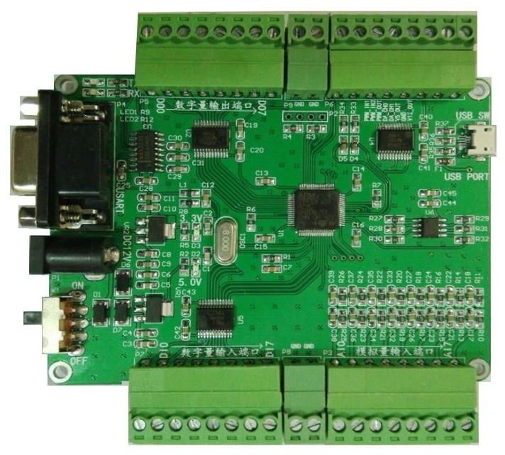 YAV MAX serial RS232 signal acquisition module 8AD8DI8DO 2DA2PWM2 counter send routine