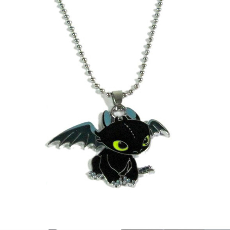 Kittenup Movie How to Train Your Dragon New Fashion Cute Toothless Necklace Pendant For Men Women
