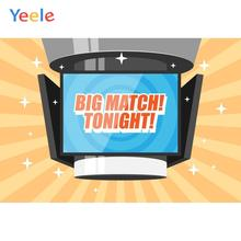 Yeele Big Match TV Children Kid Party Activity Poster Customized Photography Backdrops Photographic Backgrounds For Photo Studio