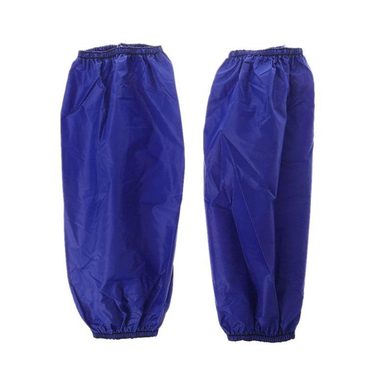 1Pair Waterproof Oilproof Arm Sleeves Cover Faux-Leather Oversleeves Sleevelet