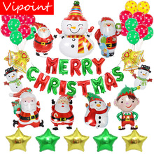 VIPOINT PARTY one set 18inch Santa Claus snowman foil balloons wedding event christmas halloween festival birthday party HY-66