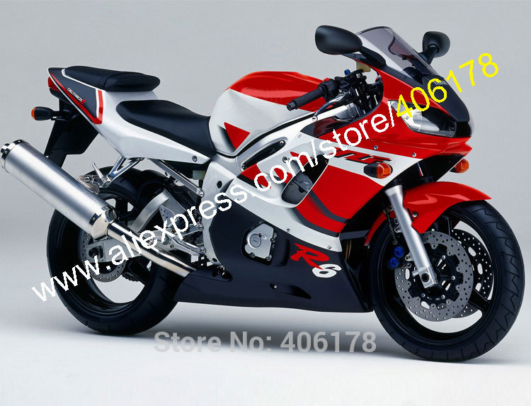 Hot Sales,For Yamaha YZF-R6 YZFR6 1998-2002 YZF600 YZF R6 600 98 99 00 01 02 Body work Body Kit ABS Fairings (Injection molding)