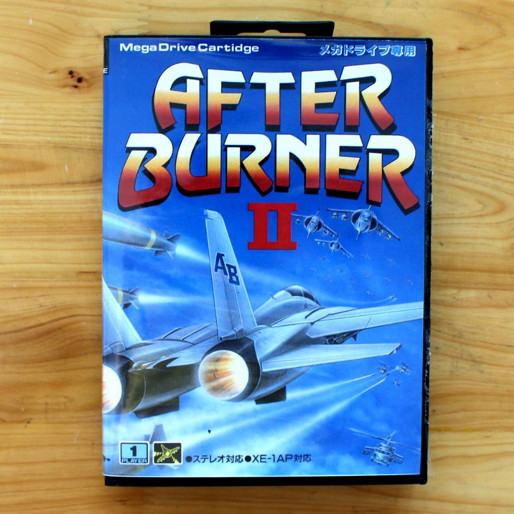 After Burner II 16 Bit SEGA MD Game Card With Retail Box For Sega Mega Drive For Genesis