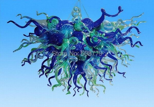 Hot Sale Flower Shape Hand Blown Glass Art Deco Crystal ChandelierHot Sale Flower Shape Hand Blown Glass Art Deco Crystal Chandelier