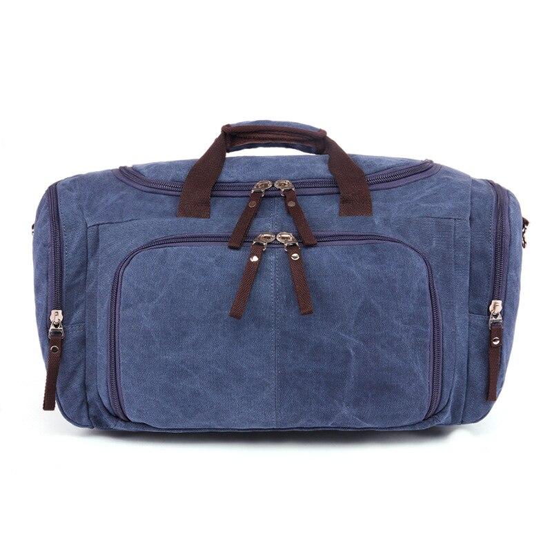 Vintage Canvas Stora Enkla Män Rese Väskor Kvinnor Bagage Rese - Väskor för bagage och resor - Foto 5
