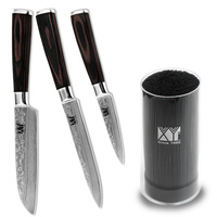 XYJ Brand High Carbon Stainless Steel Knife 3 5 5 5 Inch Fruit Utility Santoku Kitchen