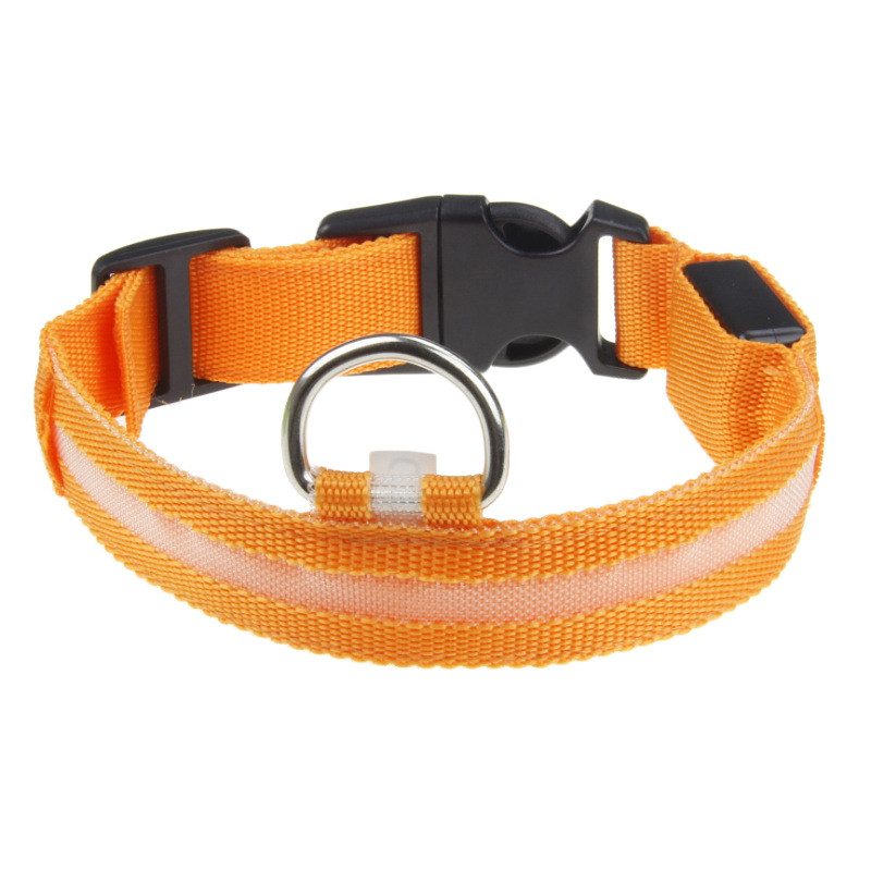 Fashion candy color LED Dog Collar Flashing In Dark Nylon 3 Mode Lighting Safety LED Pet Collar Wide Luminous Pet Products 14