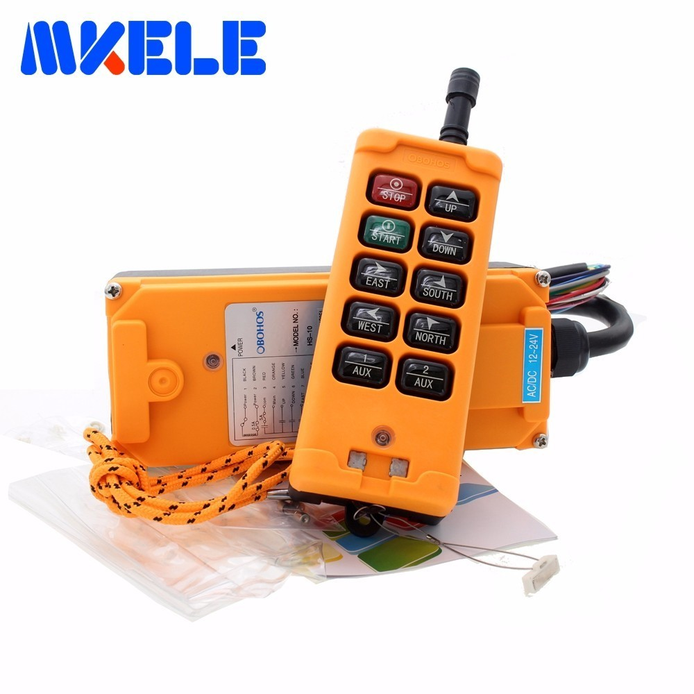 New Arrivals 6 Channels 1 Speed control 2 motor crane industrial remote control HS-10 wireless transmitter push button switch quality assurance 6 channeis 1 speed control 2 motor crane industrial remote control mkhs 10 1 wireless transmitter ip65 degree