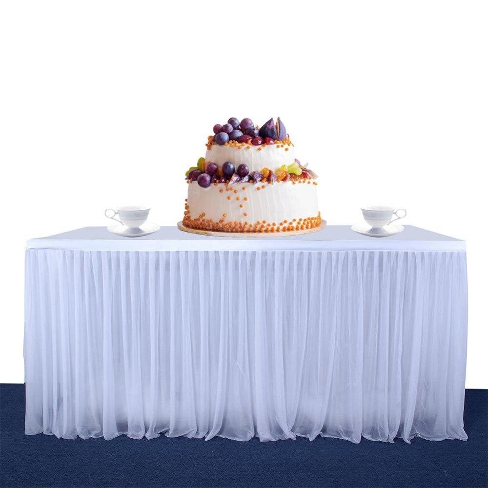 LanLan High-end Stretch Yarn Elegant Mesh Fluffy Tutu Table Skirt For Party Wedding Birthday Party Home Decoration