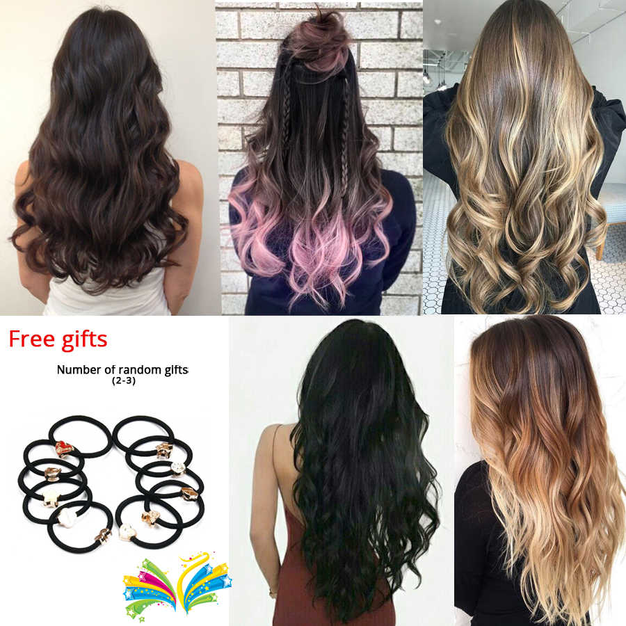 Leeons полная голова высокотемпературные волокна кудрявые синтетические 16 заколки для волос для наращивания для женщин популярные шиньоны Омбре цвета