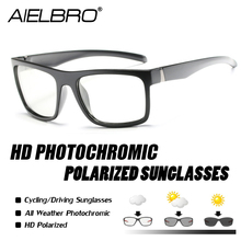 AIELBRO Polarized Men Women Outdoor Sports Cycling Glasses Bike Goggles Photochromic Sunglasses Eyewear