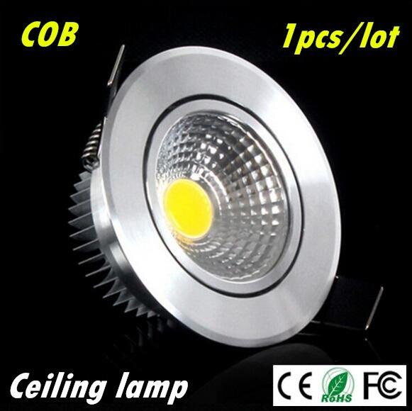 1pcs Super Bright Dimmable Led φώτα φωτισμού COB Φωτιστικό οροφής 3w 5w 7w χωνευτό φωτιστικό Φώτα εσωτερικού φωτισμού