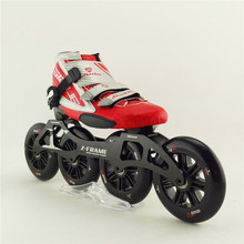 Carbon fiber racing professional speed skating shoes roller skating adluts/child inline skate with 4×120 big wheel