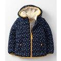 2016 (3-7) nuevo estilo muchachas de los niños chaquetas gruesas niños de invierno gruesa chaqueta de invierno cálido algodón con capucha regular abrigos/escudo
