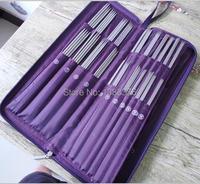 Agulhas de tricô conjunto de crochê jogo do gancho agulha de crochê tricô ferramentas 104 pçs/set ferramentas de agulha circular de aço inoxidável 611