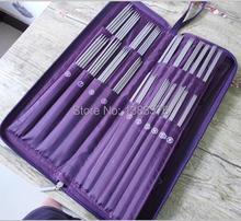 Conjunto de agujas de tejer conjunto de ganchillo, herramientas de ganchillo, 104 unidades/juego, herramientas de costura, circular de acero inoxidable 611