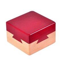 Головоломка секретная коробка IQ Mind деревянная Волшебная коробка тизер игра взрослые подарки креативные развивающие игрушки Монтессори Конг Мин замок Лу бан
