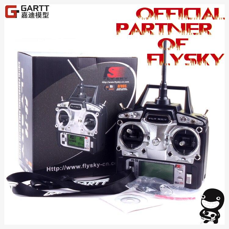 Бесплатная доставка FlySky FS-T6 FS T6 2,4 г Цифровой 6 Каналы передатчик и приемник RC радио режим 2