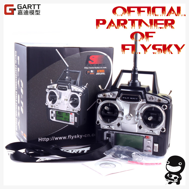 Freeshipping FlySky FS-T6 FS T6 2.4G Digital 6 Channels Transmitter & Receiver RC Radio Mode 2 gartt flysky fs t6 fs t6 2 4g digital 6 channels transmitter
