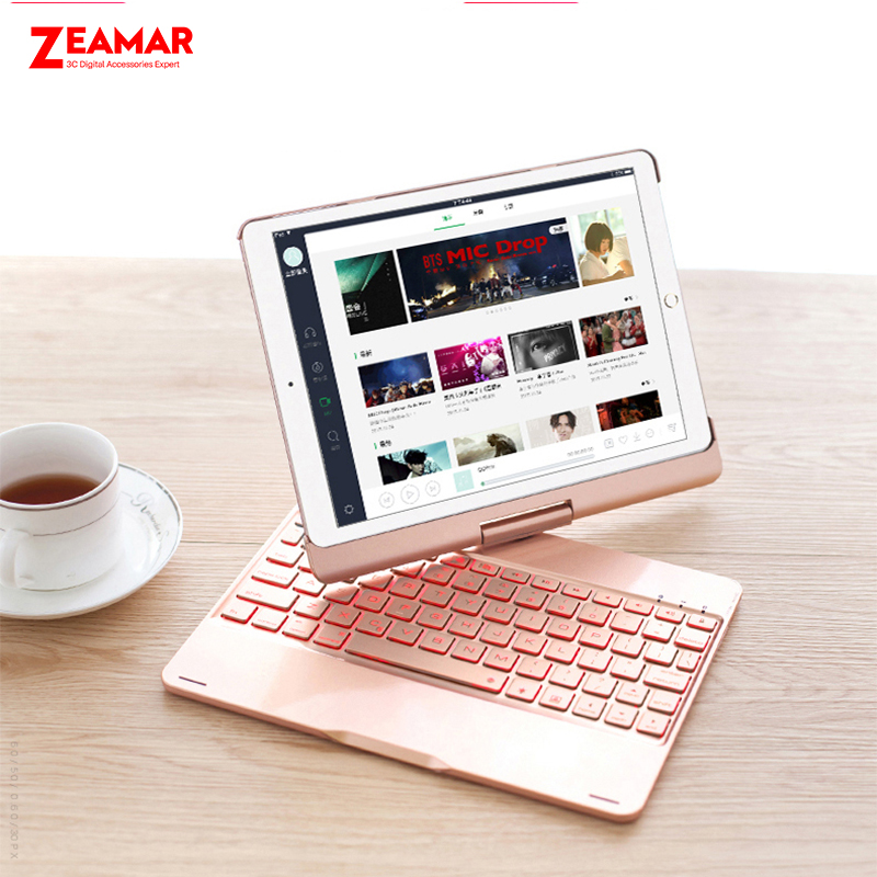 7 Color Backlit Keyboard Case Cover For New IPad 9.7