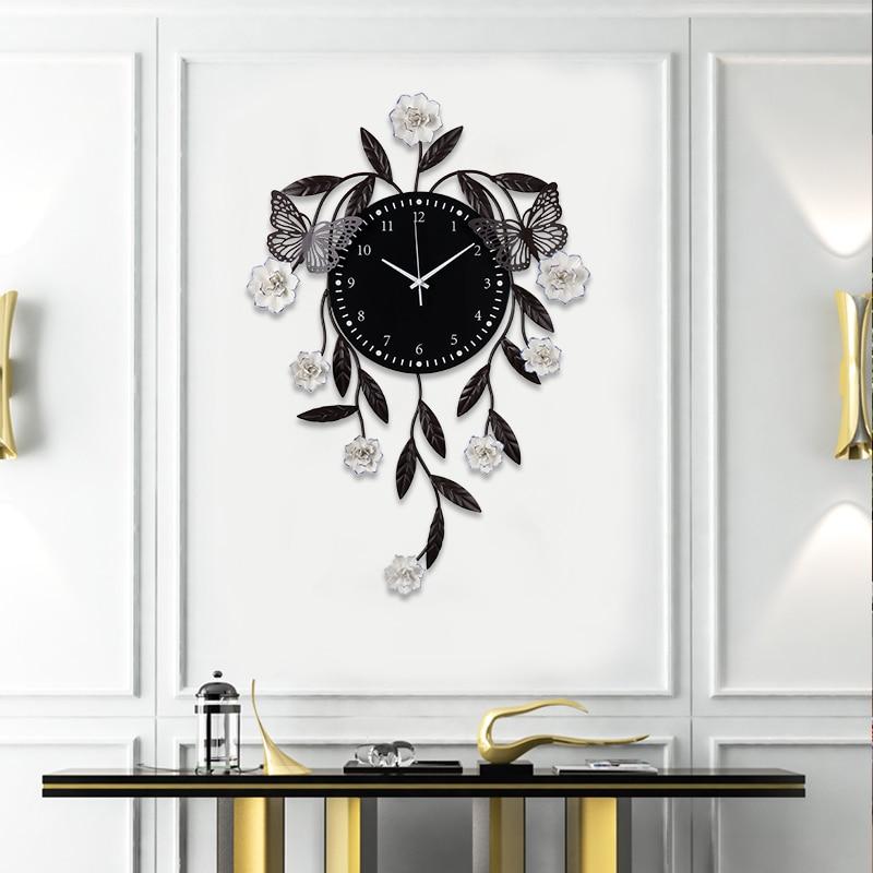 Grandes horloges murales Design moderne décoratif silencieux Non coutil grande horloge murale 20 pouces vintage montre murale pour salon chambre