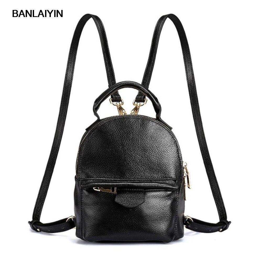 New Women Top Quality Genuine Leather Cowhide Women Ladies Korean Daypack Bag Luxury Retro Trend Female