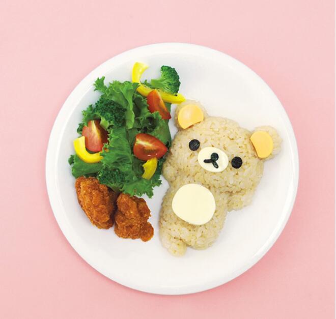 4Pcs/set  DIY Chicken Bear Kawaii Sushi Curry Rice Mould Rice Ball Maker Decor Cutter Sushi Maker Kitchen Accessories + Pad 2