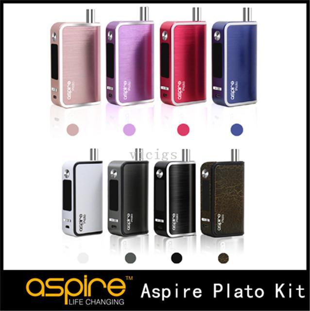 100% original 2500 mah aspire platão kit all-in-one kit tc 50 w fluxo de ar ajustável com 5.6 ml