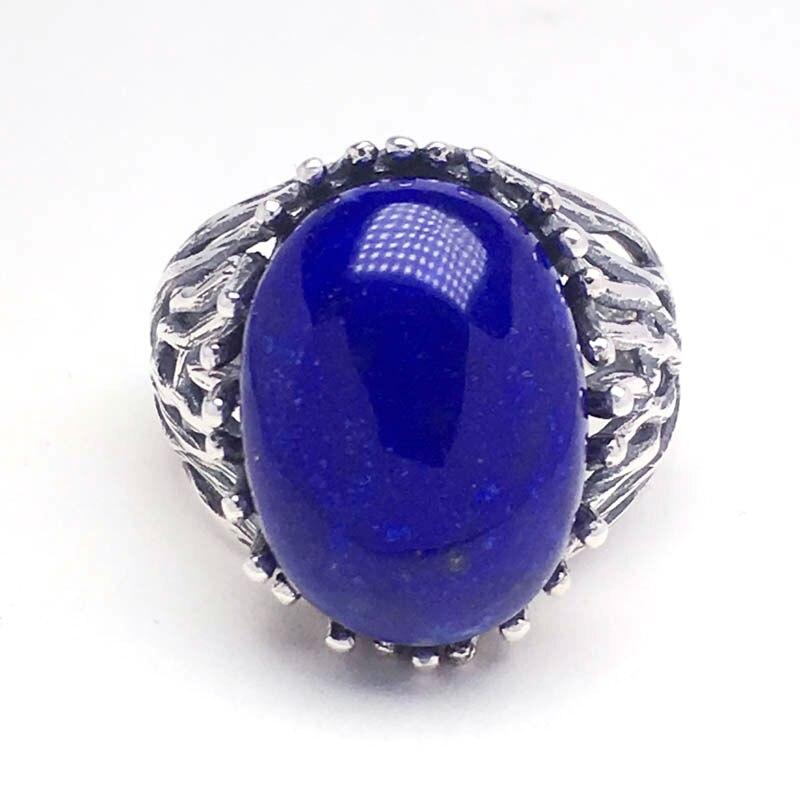 CSJ big stone 13*18mm lapis anneaux 925 en argent sterling femmes femme dame mariage fiançailles fête cadeau bijoux fins