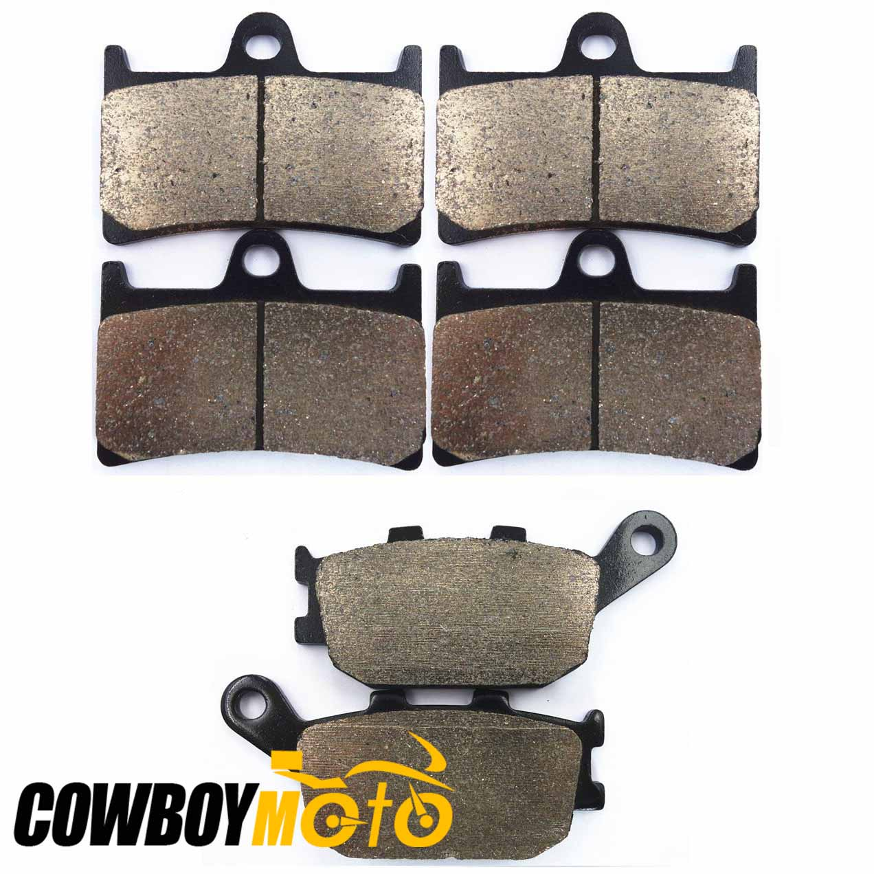 Motorcycle Sintered Set Semi-Metallic Brake Pads Set fit For YAMAHA 600 FZ6 Fazer S2 600 FZ6 Fa 2007 2008 2009 aftermarket free shipping motorcycle parts eliminator tidy tail for 2006 2007 2008 fz6 fazer 2007 2008b lack