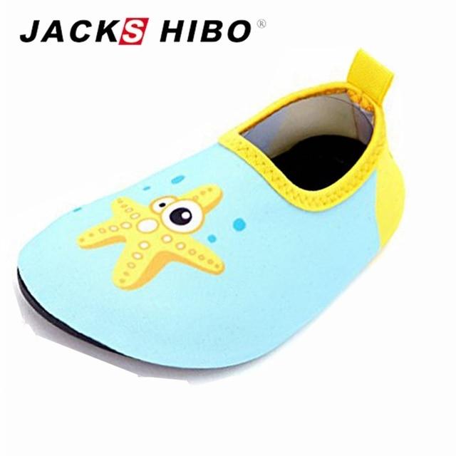 1bc167f433c1 JACKSHIBO Kids Water Sock Shoes Blue Star Pool Beach Children Shoes Cute  Cartoon Flat Water Socks Baby Swimming Pool