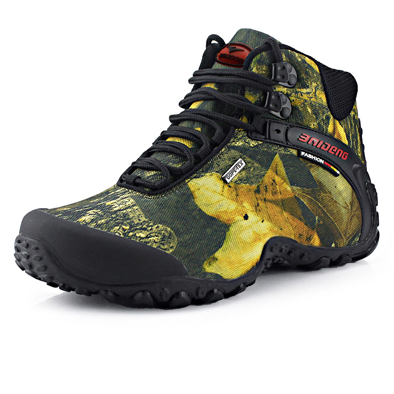 Flat Shoes Winter Leaves Print Lace Up Waterproof Combat Army Boots Mens Tactical Military Ankle Desert Boots HH-247 waterproof mouldproof maple leaves print shower curtain