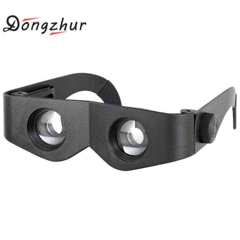 Novelty Designfishing Eyewear Portable Plastic Frame Fishing Magnifier Glasses Outdoor Fishing Optics Binoculars Telescope