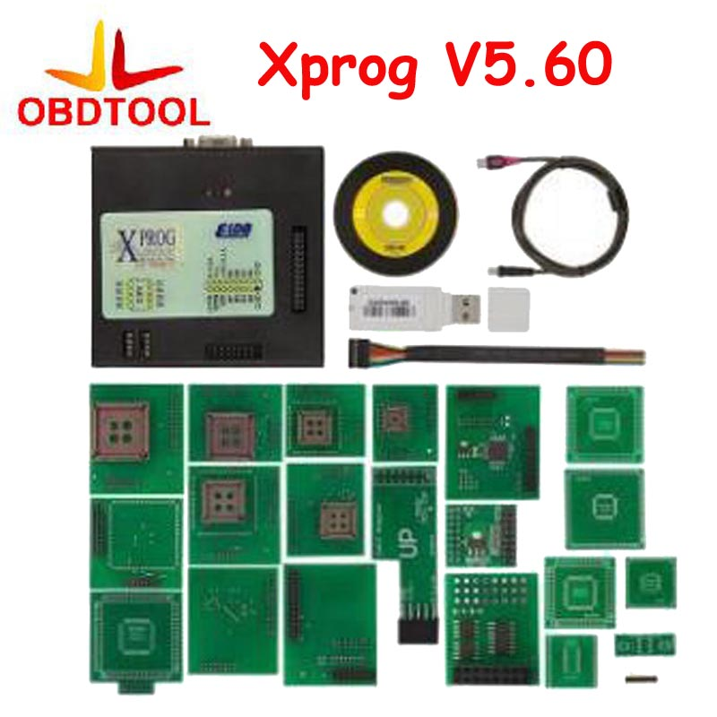 ECU Programmer XProg-M V5.60 With All Adapter Dongle XPROG 5.60 Better Than Xprog V5.55