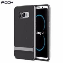 Рок телефон чехлы для Samsung Galaxy S8 S8 плюс Royce Series Роскошные противоударный Мягкие TPU + PC задняя крышка Shell Капа брендов S8