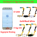 Original S7 Home Button Repair For Samsung Galaxy S7 S7 Edge Plus G930 G935 Home Button Fingerprint Sensor With Flex Cable