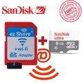 100% оригинал ezshare Беспроводной wi-fi адаптер + Sandisk Ultra 8 ГБ class10 micro sd wi-fi беспроводной TF MicroSD Карты