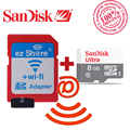 100% original ezshare Wireless wifi adapter+Sandisk Ultra 8gb class10  micro sd wifi wireless TF MicroSD Card