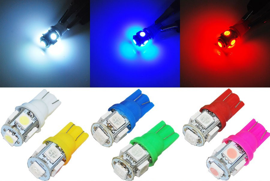 FREE-SHIPPING-PROMOTION-HOT-SELLING-50pcs-Colorful-T10-5-SMD-5050-LED-194-168-W5W-Car