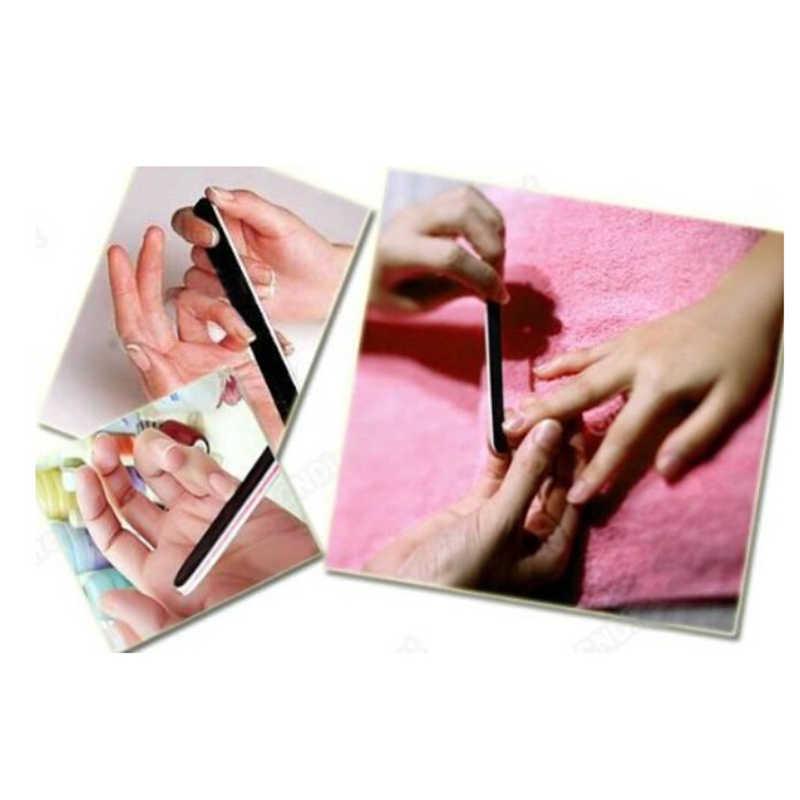 Nero 1 Pc Smeriglitatura Nail File Nail Buffer UV Gel Lucidatore Del Chiodo Lime Smalto Strumenti di Arte Manicure