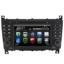 GSP Navigation In Dash Multimedia Radio Stereo Video Free MapFor Mercedes W203 Steering Wheel Control Bluetooth Car DVD Player