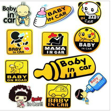 Hot sale Car Motorcycle Sticker Baby in the Car Warning Design car Body Decoration Decals Auto Exterior Car-styling Accessories